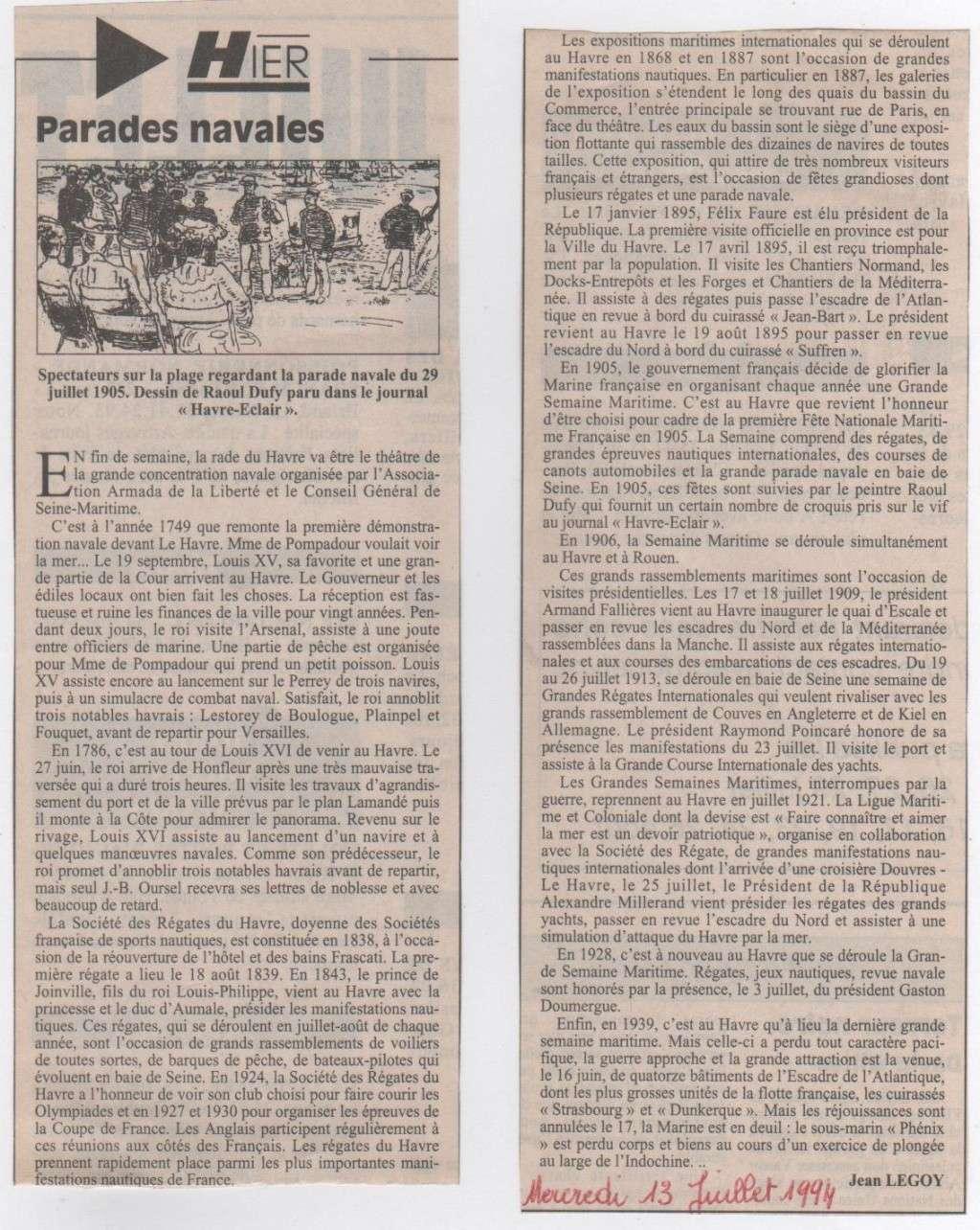Hier, Le Havre par Jean LEGOY - Page 3 Parade10