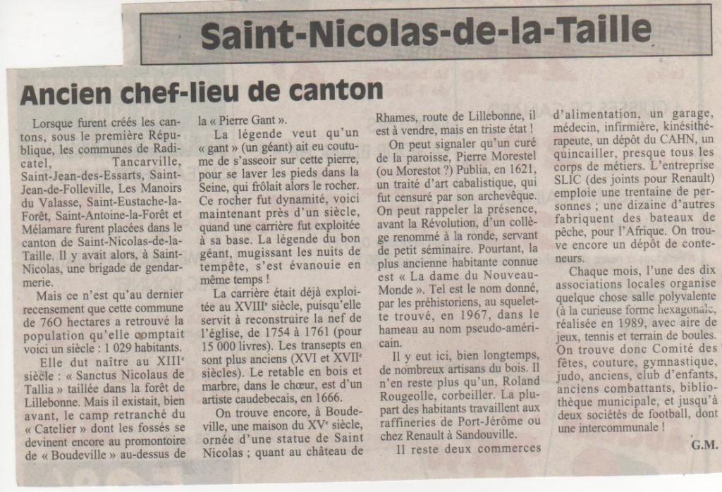 Histoire des communes normandes -Saint-Nicolas-de-la-Taille Saint-10
