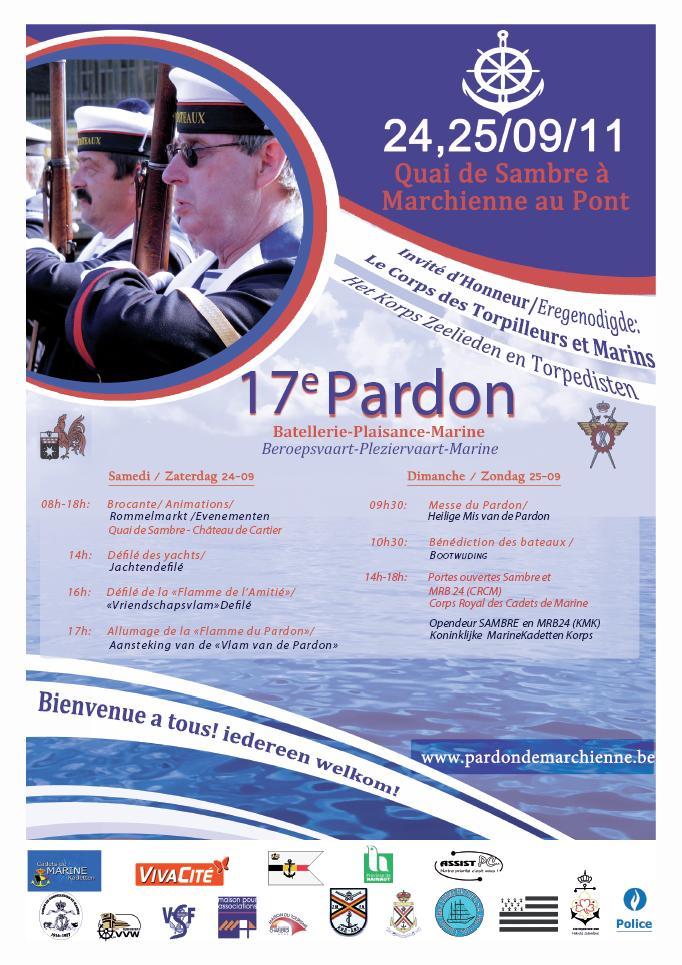 Pardon de la batellerie de Marchienne les 24 et 25/09/2011 Affich10