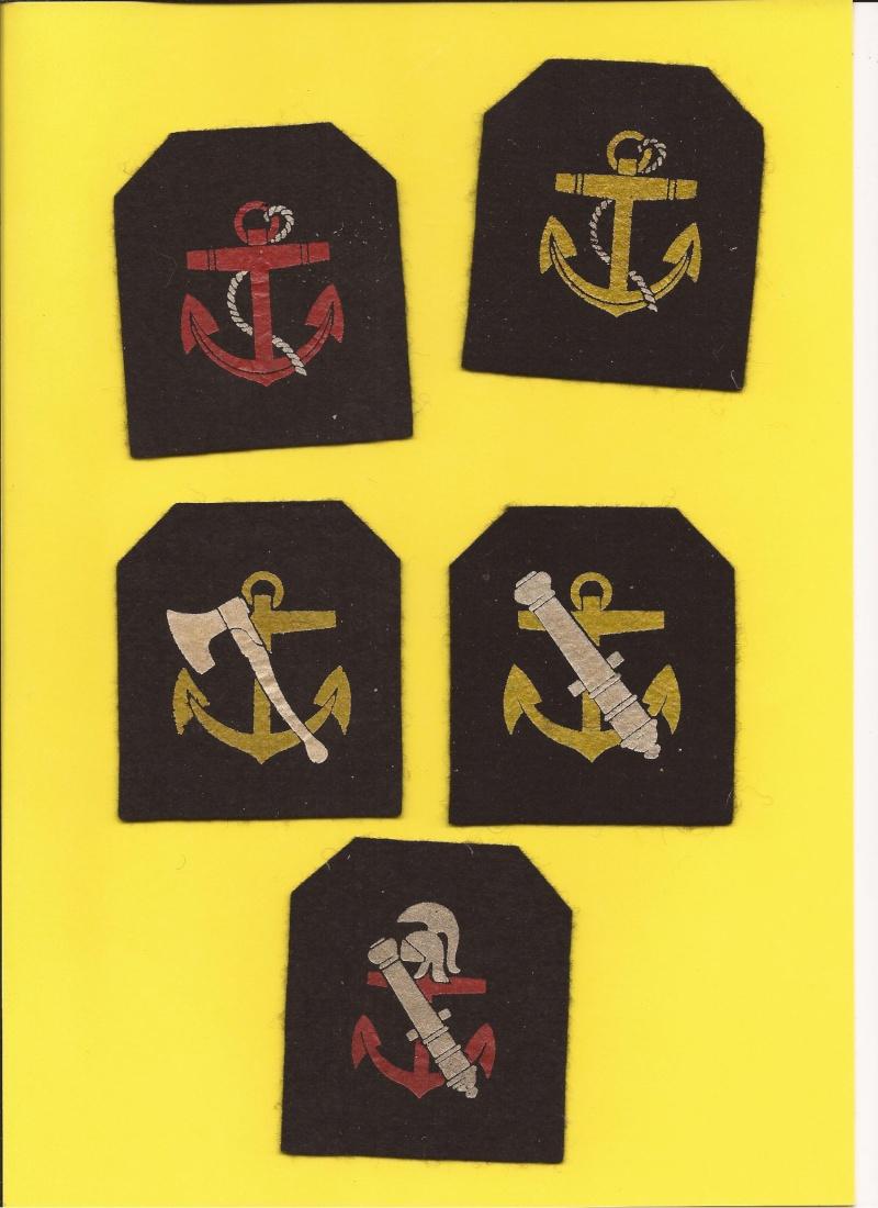 écussons de specialité de la force navale  Objets10