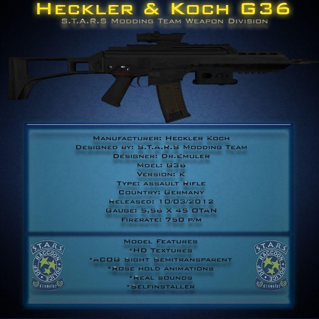 Rifle de asalto G36 H&K G36ren10