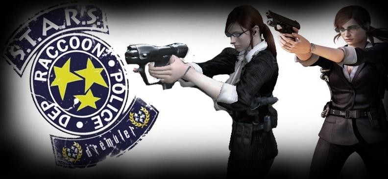 Claire Mercenaries 3D Bussines EX Costume Rend10