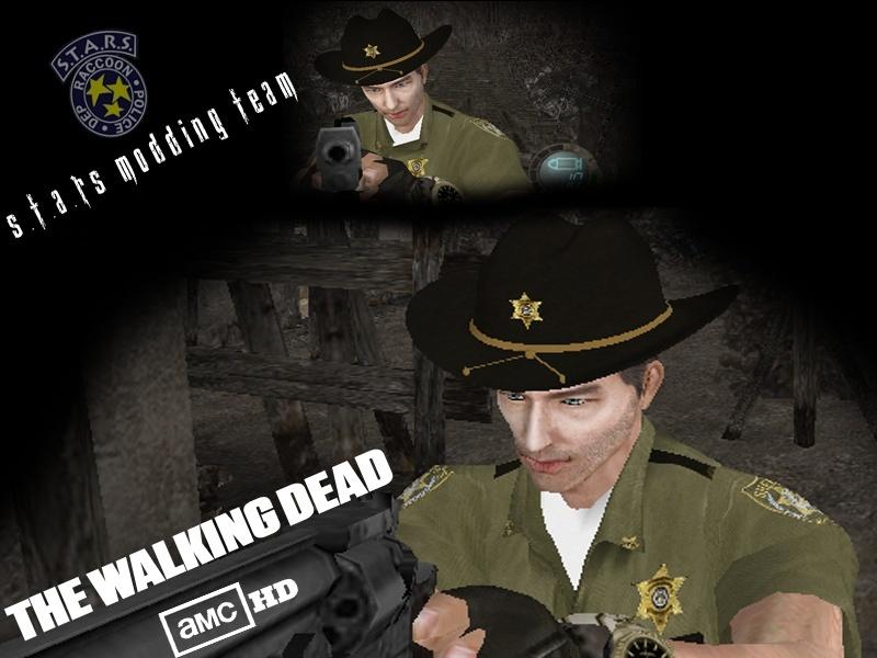 The Walking Dead Rick Grimes - Juega con el poli de Walking Dead Render16
