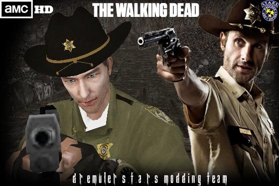 The Walking Dead Rick Grimes - Juega con el poli de Walking Dead Render18