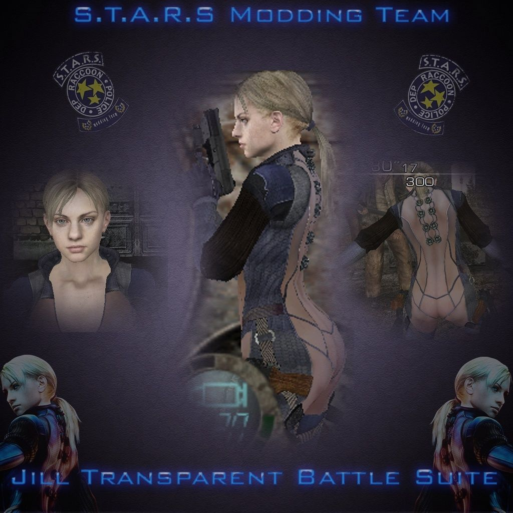 RE5 Jill Battle Suite Transparente 18+ Render21
