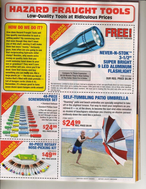 For Jim, more Harbor Freight Coupons! Hazard10
