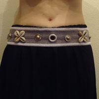 Cinturón tribal gris y blanco Cintur12
