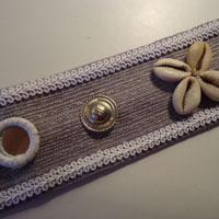 Cinturón tribal gris y blanco Cintur13