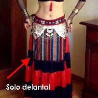 Delantal tribal multicolor Delant11