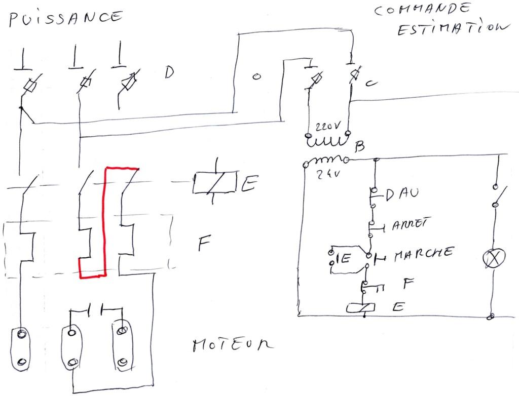 Passage d'une perceuse à colonne du 380v au 220v Img18510