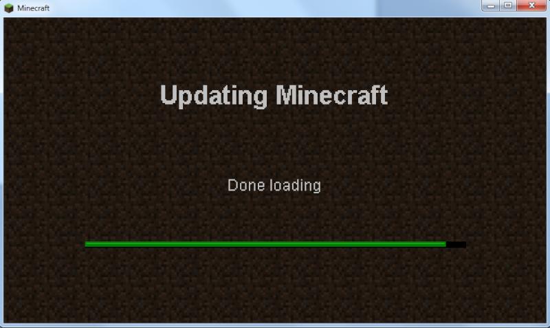 "Problème "" Updating Minecraft, done loading "" Sans_t13"