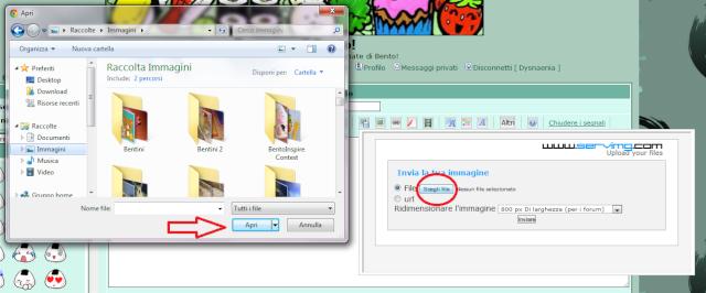 Istruzioni per caricare le foto nei topic Hostin11
