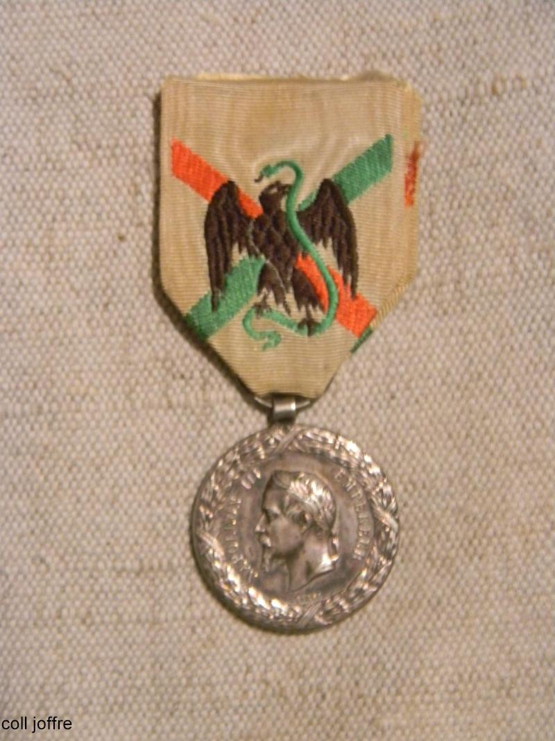souvenir historique du siège de Paris et médaille campagne Mexique _est_o54