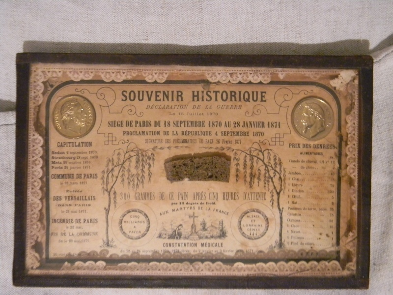 souvenir historique du siège de Paris et médaille campagne Mexique Photo_65
