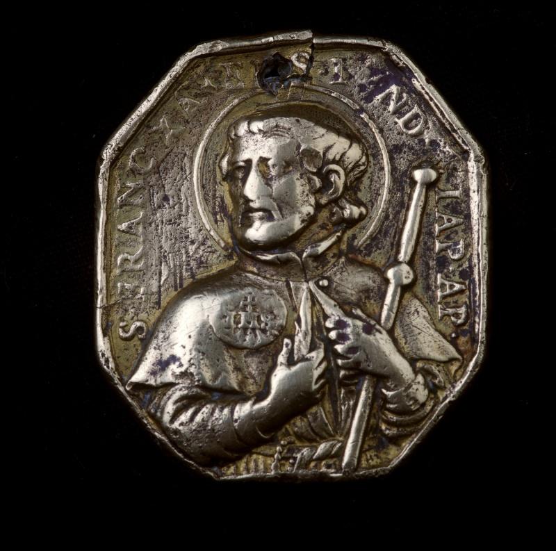 Grosse médaille octogonale XVIIème - St-François-Xavier & St-Ignace-de-Loyola St_ign11