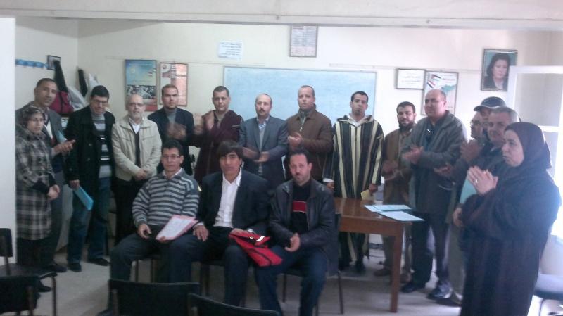 تجديد المكتب المحلي للنقابة الوطنية للعدل (ال ك د ش) بالناظور يوم السبت 25 فبراير 2012 في أجواء نضالية واحتفالية Nador10