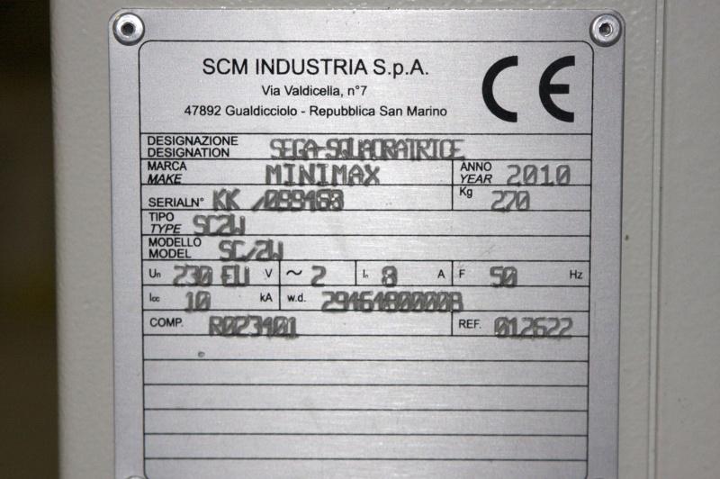 [Présentation] Scie à format MINIMAX SC2 Plaque11