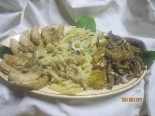 aiguillettes de poulet aux champignons. Aiguil12