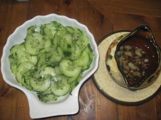 salade de comconbre à la vinaigrette à l'échalotes Comcon10