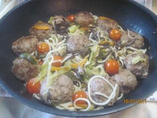 Nouilles chinoise aux boulettes de viande de boeuf Nouill12