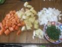 Jardinière aux légumes au sauté de porc Jardin26