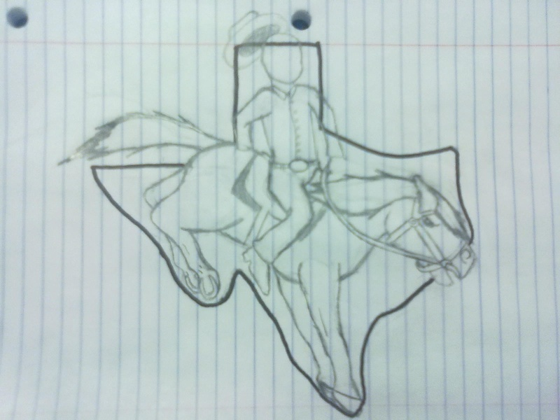 How I see Texas drawing Texas10