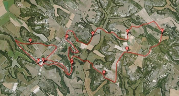 Invitation à courir en groupe sur Belfort-du-Quercy mercredi 6 juillet  Carte11