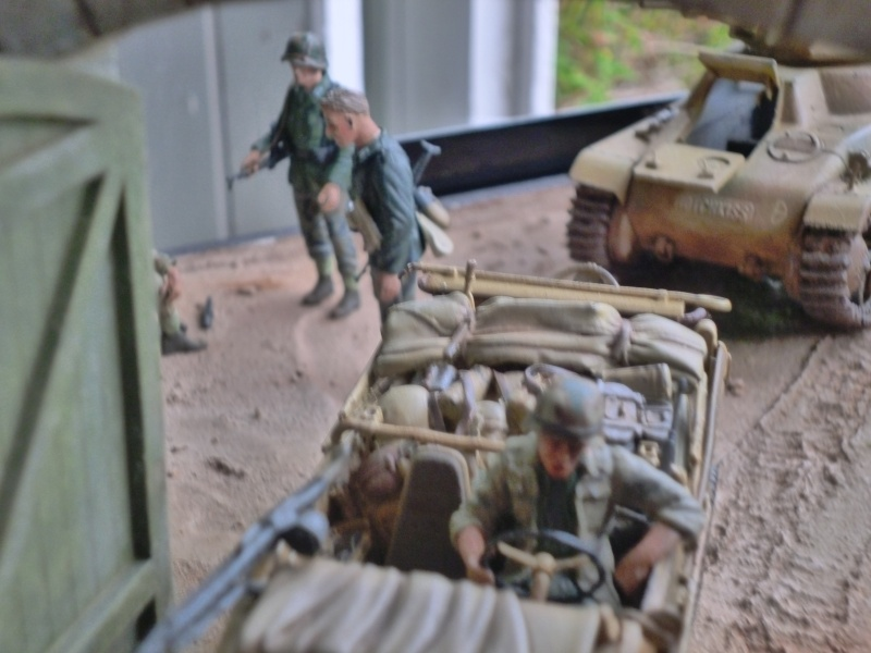 21ème PANZER DIVISION le 05/06/1944 --> diorama terminé P1000615