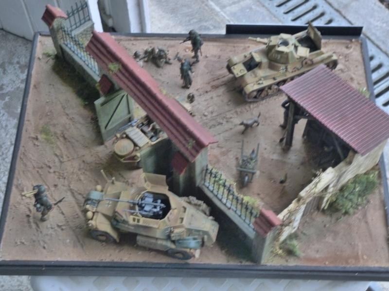 21ème PANZER DIVISION le 05/06/1944 --> diorama terminé P1000622