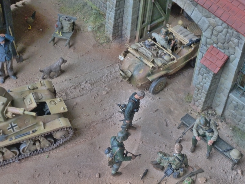21ème PANZER DIVISION le 05/06/1944 --> diorama terminé P1000623