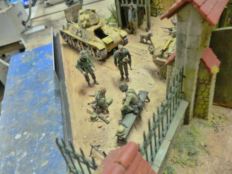21ème PANZER DIVISION le 05/06/1944 --> diorama terminé P1000627