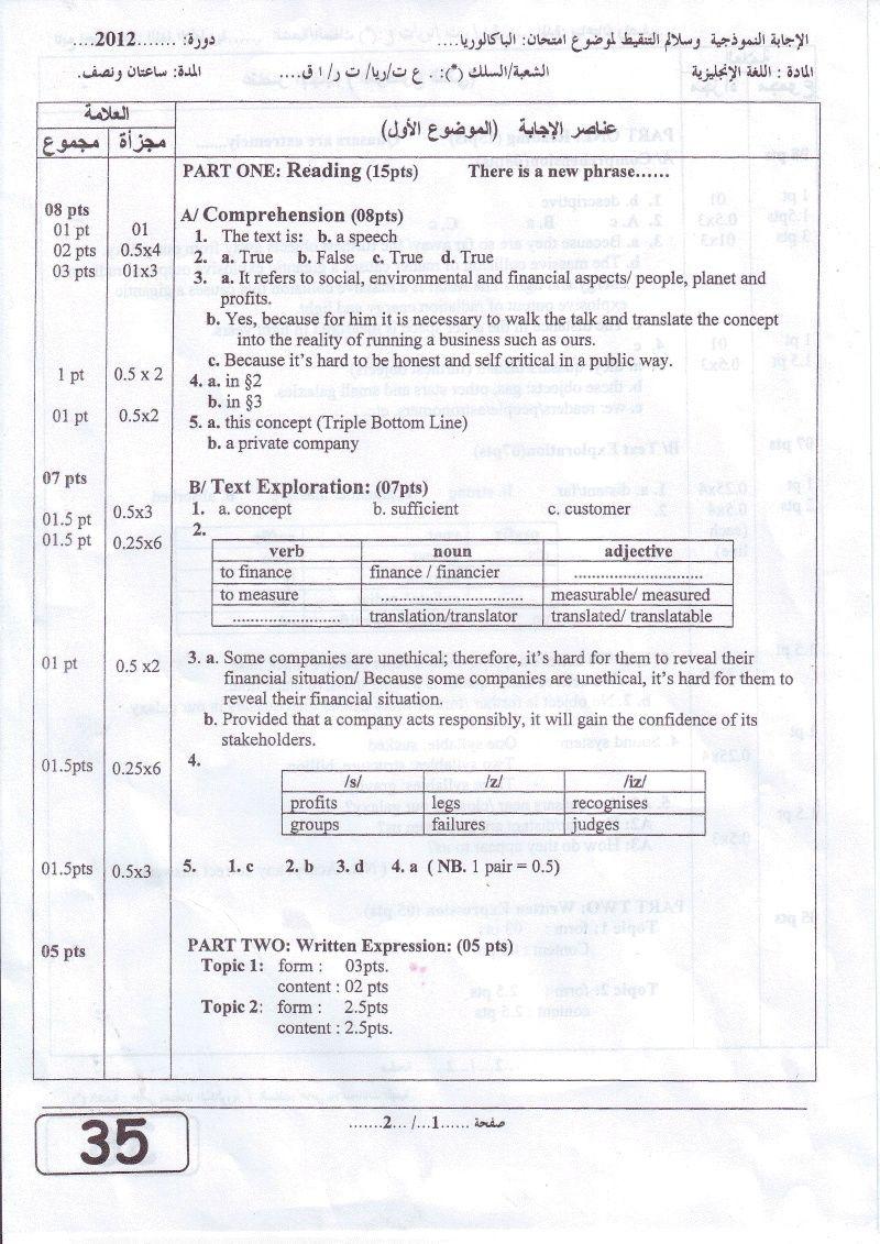 التصحيح النموذجي الرسمي للغة الانجليزية- ع.د/ر/ت.ر/ت.إ- باكالوريا 2012 Sci_ex10