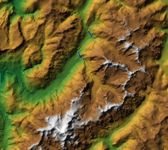 Le fond de la vallée de Chamonix Carte-11