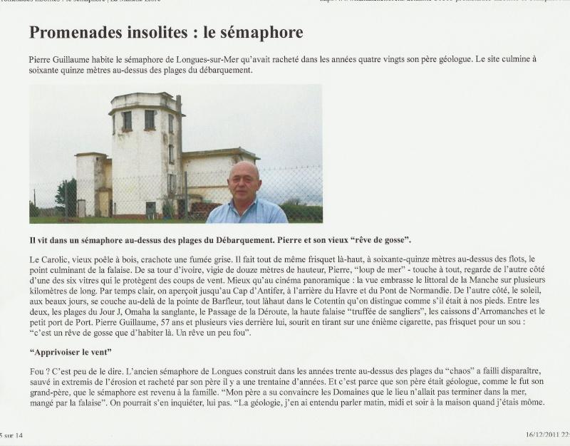 [ Les sémaphores - divers ] LES SEMAPHORES DANS L'HISTOIRE - Page 2 Longue13
