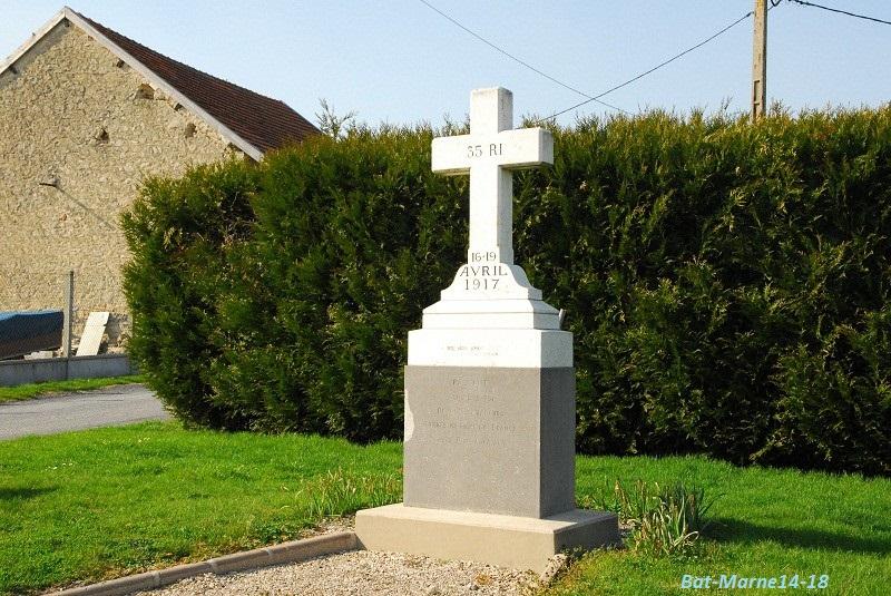 Le Monument au 35e R.I. à Berméricourt (51) 11410