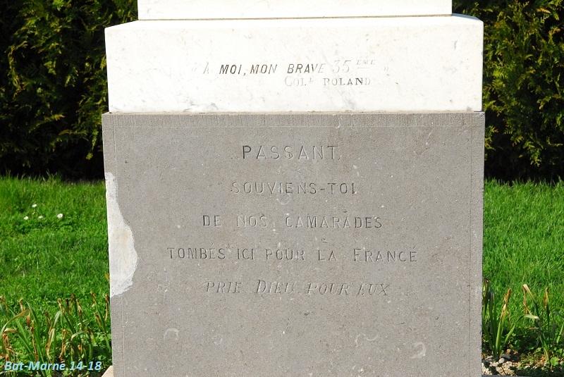Le Monument au 35e R.I. à Berméricourt (51) 31310