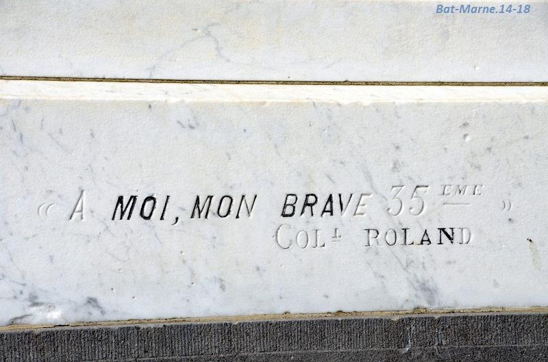 Le Monument au 35e R.I. à Berméricourt (51) 41310