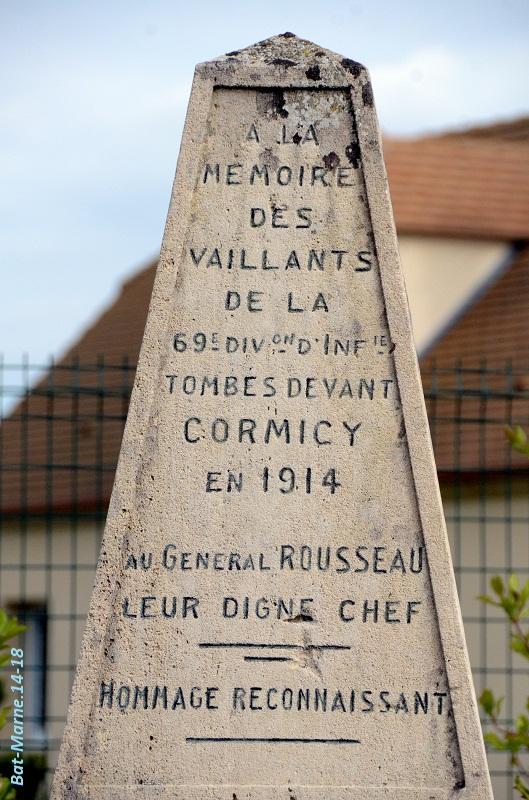 Monument à la 69e Division d'Infanterie à Cormicy (51) 415