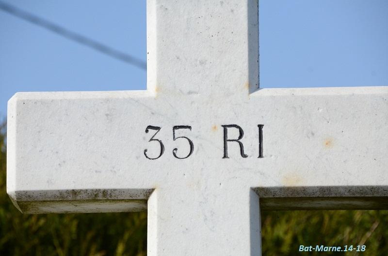 Le Monument au 35e R.I. à Berméricourt (51) 51310