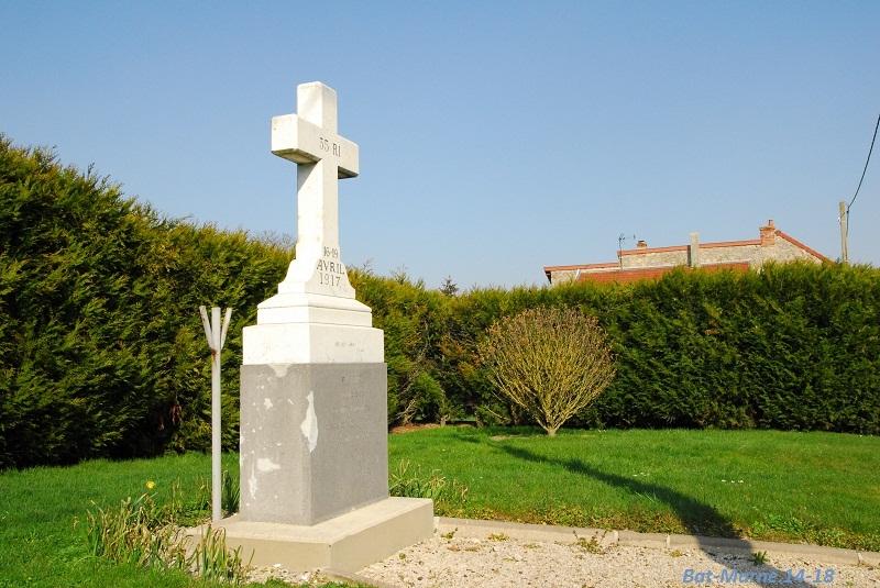 Le Monument au 35e R.I. à Berméricourt (51) 71310
