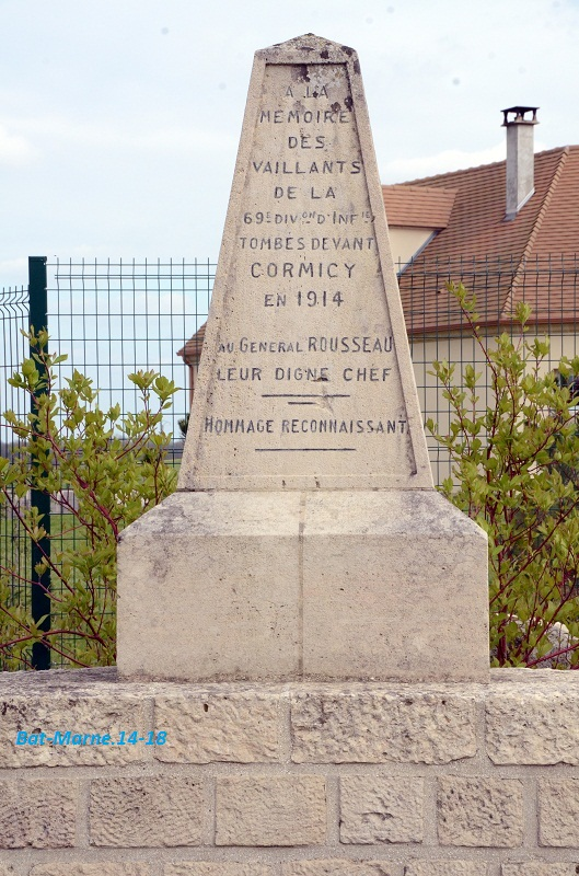 Monument à la 69e Division d'Infanterie à Cormicy (51) Dsc_3310