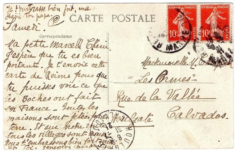 Cartes Postales  de Berry-au-Bac et de la Cote 108 Rdvesl12