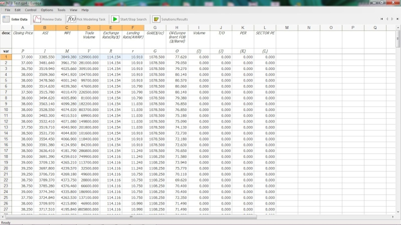 Mathematical Modeling for Equity Trading Variab10