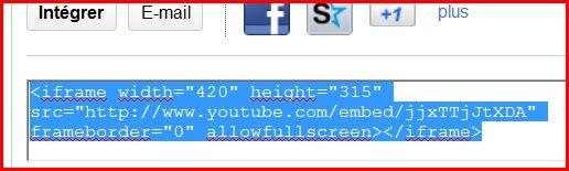 Comment mettre une vidéo sur le forum. 11102011