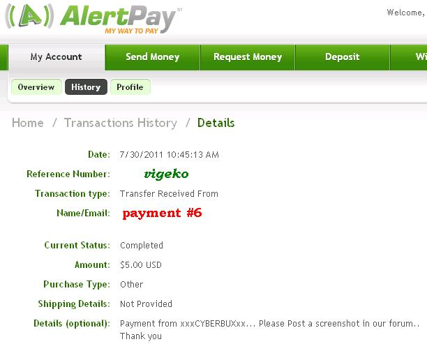 My payment proofs Cyberb12
