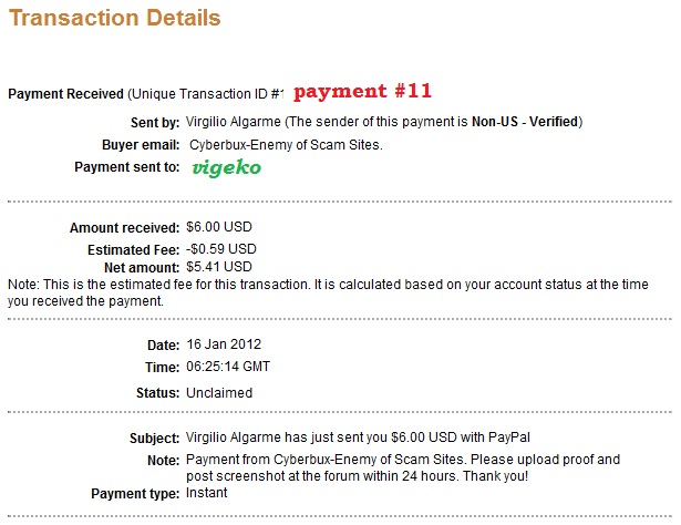 My payment proofs Cyberb18