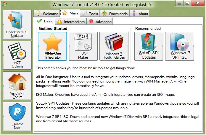 Win Toolkit 1.4.0.27 - Bộ công cụ quản lý và active Windows Mainba10