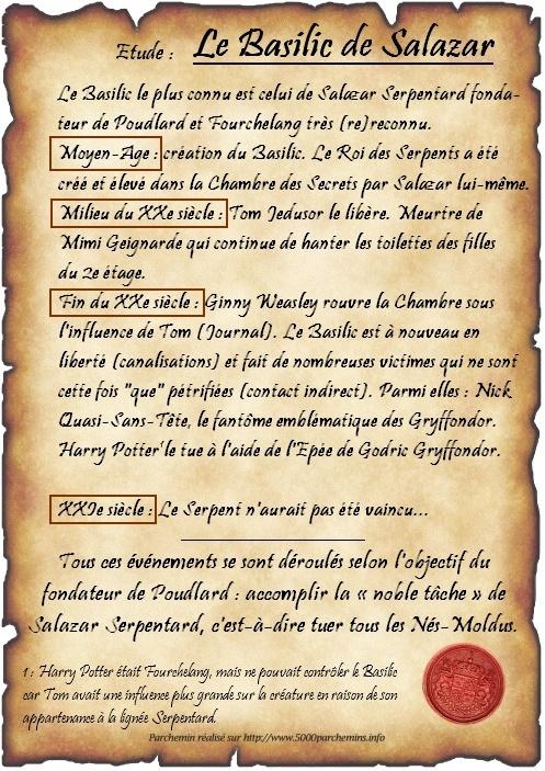 Cours n°1 - Le Basilic  - Page 2 Parche11