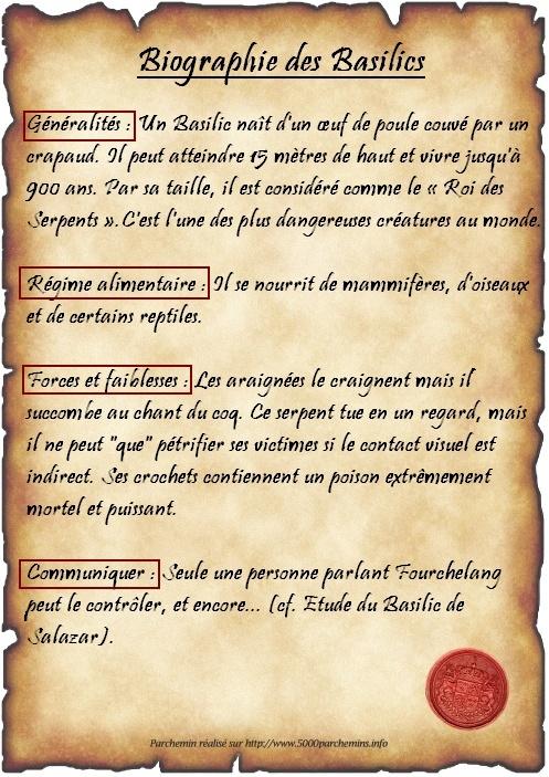 Cours n°1 - Le Basilic  - Page 2 Parche12