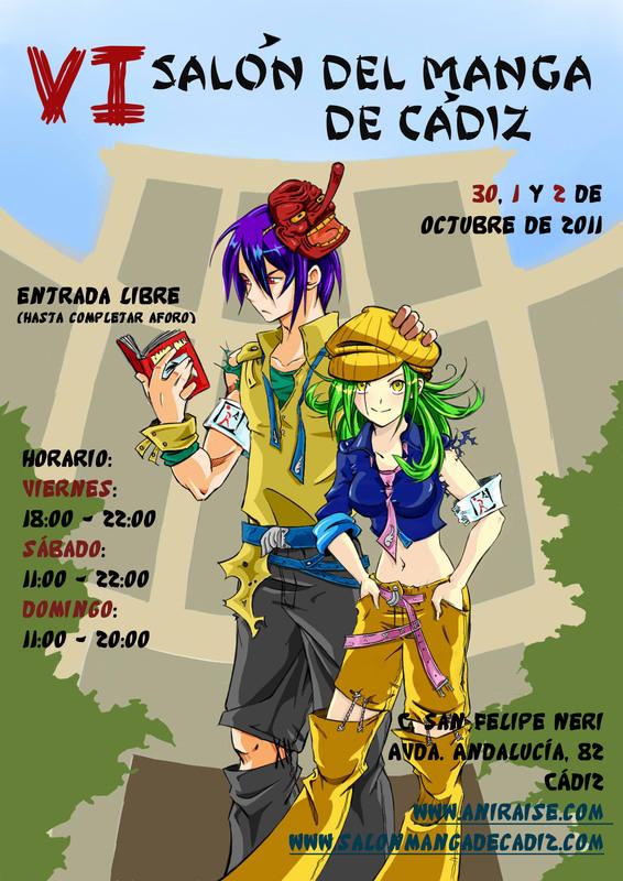 VI Salón del Manga de Cádiz 2011 Cartel10